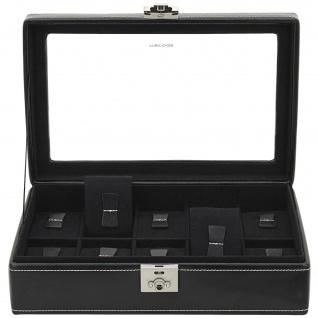 Friedrich Lederwaren Uhrenkoffer Uhrenkasten Uhrenbox LONDON schwarz