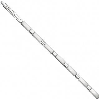 Armband aus Edelstahl teil matt 21 cm mit Klappverschluss