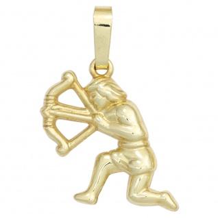 Anhänger Sternzeichen Schütze 333 Gold Gelbgold Sternzeichenanhänger