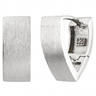 Creolen spitz 925 Sterling Silber matt Ohrringe Silbercreolen Silberohrringe