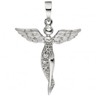 Anhänger Engel Schutzengel 925 Sterling Silber mit Zirkonia Silberanhänger