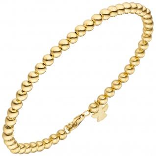 Armband mit Engel 585 Gold Gelbgold 19 cm Goldarmband Schutzengel