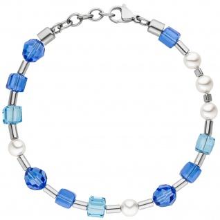 Armband mit Kristallsteinen und Hämatit 21 cm