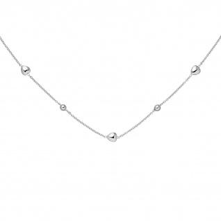 Collier Herz Kugel 925 Sterling Silber 45 cm Silberkette Federring - Vorschau 1