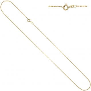 Ankerkette 585 Gelbgold 1, 2 mm 38 cm Gold Kette Halskette Goldkette Federring