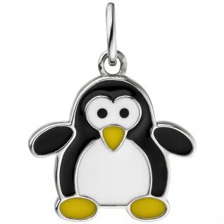 Kinder Anhänger Pinguin 925 Sterling Silber Silberanhänger Kinderanhänger