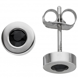 Ohrstecker rund aus Edelstahl mit SWAROVSKI® ELEMENTS Ohrringe 5, 8 mm