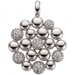 Anhänger 585 Gold Weißgold 42 Diamanten Brillanten 0, 31ct.