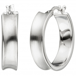 Creolen 925 Sterling Silber matt Ohrringe Silbercreolen Silberohrringe