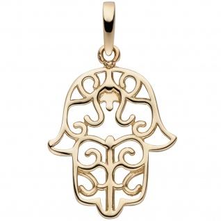 Anhänger Fatimas Hand 333 Gold Gelbgold
