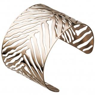 Armspange / offener Armreif Edelstahl rotgold farben beschichtet Armband breit