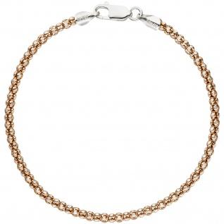 Armband 925 Sterling Silber bicolor rotgold gold vergoldet 19 cm