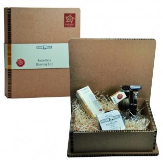 Golddachs Bartpflege Set in Geschenkbox Geschenkset Rasierset Bartset