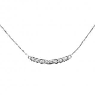 Collier Halskette 925 Sterling Silber mit Zirkonia 45 cm Kette Silberkette - Vorschau 4