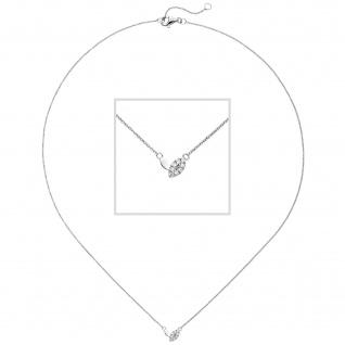 Collier 585 Gold Weißgold 8 Diamanten Brillanten 45 cm