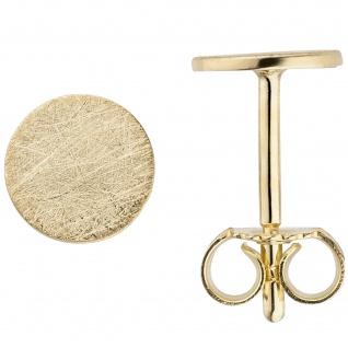 Ohrstecker 333 Gold Gelbgold eismatt Ohrringe 5, 9 mm