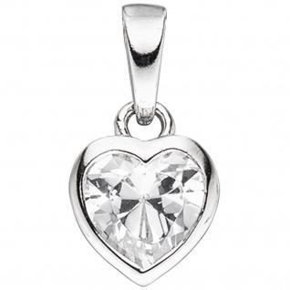 Kinder Schmuck-Set Herz 925 Silber mit Zirkonia Anhänger Ohrringe Kette 38 cm - Vorschau 4