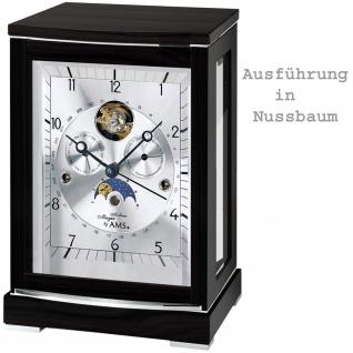 AMS 2170/1 Tischuhr mechanisch Tourbillon Holz nussbaum farben mit Aluminium