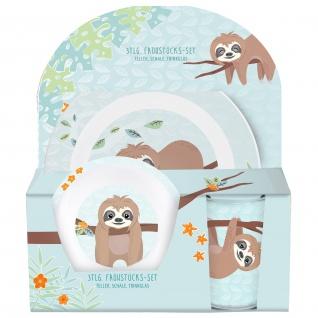 FAULTIER Frühstücks-Set für Kinder Kindergeschirr Trinkflasche Brotdose - Vorschau 2