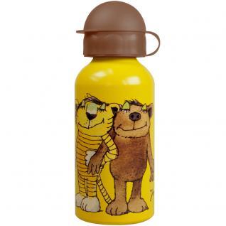 JANOSCH Kinder Trinkflasche aus Aluminium gelb 400 ml