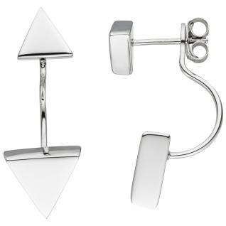 Ohrhänger dreieckig 925 Sterling Silber Ohrringe Ohrstecker Dreieck