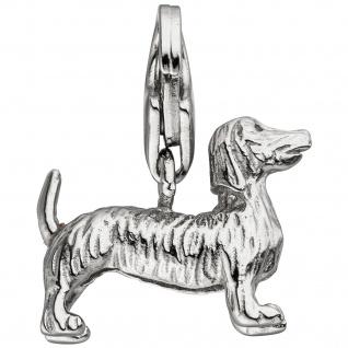 Einhänger Charm Dackel 925 Sterling Silber
