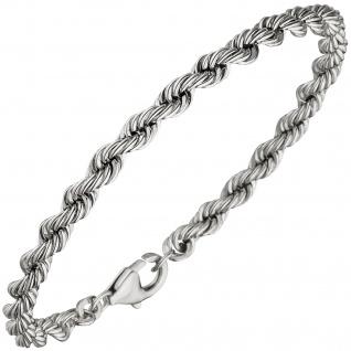 Kordelarmband 925 Sterling Silber massiv 21 cm Armband Silberarmband