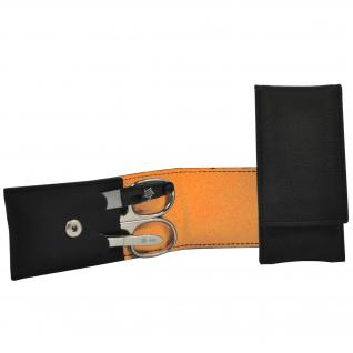 Pfeilring Maniküretui VEGAN schwarz orange 3-teilige Bestückung Maniküre Set
