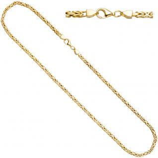 Königskette 925 Sterling Silber gold vergoldet 3, 2 mm 45 cm Kette Halskette