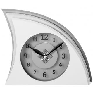 Atlanta 3110 Tischuhr Quarz analog grau Designeruhr modern