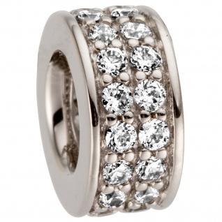 Anhänger 585 Gold Weißgold 32 Diamanten Brillanten 0, 25ct.