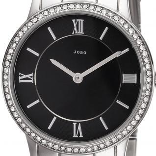 JOBO Damen Armbanduhr Quarz Analog Edelstahl mit SWAROVSKI® ELEMENTS Damenuhr - Vorschau 2