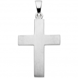 Anhänger Kreuz 925 Sterling Silber matt Kreuzanhänger Silberkreuz