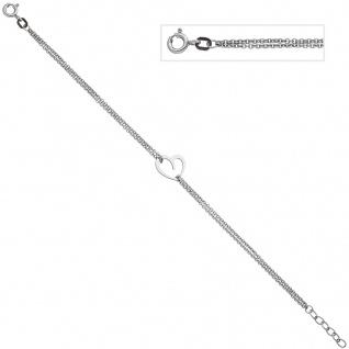 Armband Herz 925 Sterling Silber 19 cm Silberarmband Herzarmband