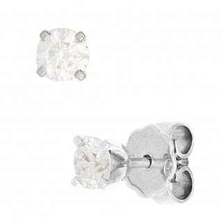 Ohrstecker 585 Gold Weißgold 2 Diamanten Brillanten 0, 80 ct. Ohrringe