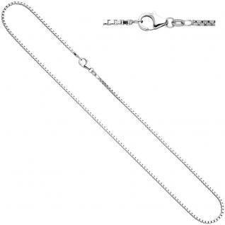 Venezianerkette 925 Silber diamantiert 1, 2 mm 40 cm Halskette Kette Karabiner