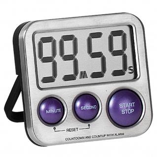 Atlanta 240/8 Kurzzeitmesser digital Metall mit Magnet Küchen Timer