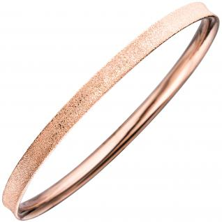 Armreif Armband 925 Sterling Silber rotgold vergoldet mattiert mit Struktur