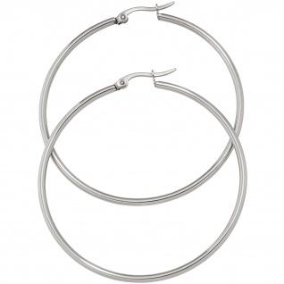 Creolen rund groß Edelstahl Ohrringe Durchmesser 54 mm