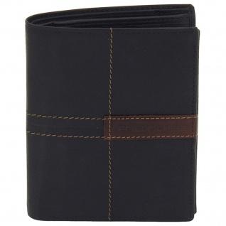 Friedrich Lederwaren Geldbörse Leder schwarz braun RFID Schutz - Vorschau 2