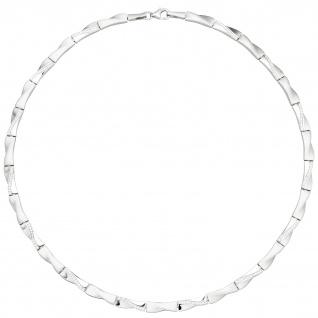 Collier Halskette 925 Silber 154 Zirkonia 45 cm Kette Silberkette