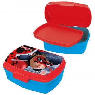MIRACOLOUS Kinder Brotdose mit Einsatz aus Kunststoff blau rot