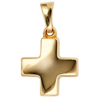 Anhänger Kreuz 333 Gold Gelbgold Kreuzanhänger Goldkreuz