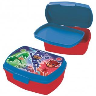 PJ MASKS Kinder Brotdose mit Einsatz aus Kunststoff rot blau