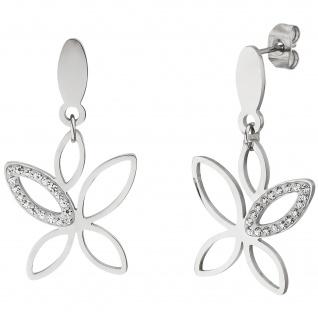 Ohrhänger Edelstahl mit 36 Kristallen Ohrringe
