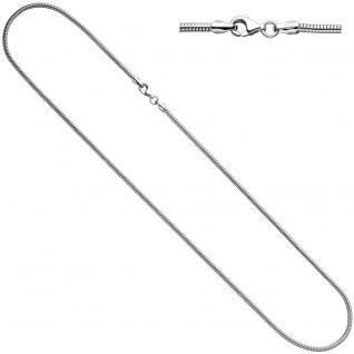 Schlangenkette 925 Silber 1, 9 mm 50 cm Halskette Kette Silberkette Karabiner
