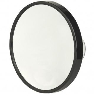 Pfeilring Kosmetikspiegel schwarz 10-fach Vergrößerung Saugnäpfe