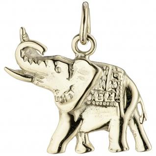 Anhänger Elefant 585 Gold Gelbgold Goldanhänger