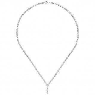 Collier Halskette 925 Sterling Silber 234 Zirkonia 44 cm Kette Silberkette