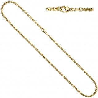Erbskette 585 Gelbgold 3, 4 mm 45 cm Gold Kette Halskette Goldkette Karabiner